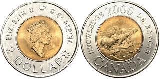カナダ2ドル硬貨