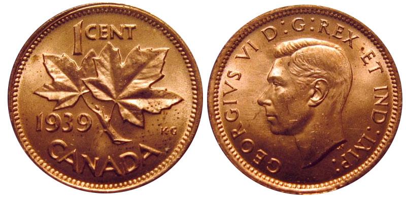 カナダ1セント硬貨